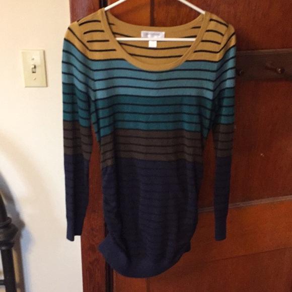 Motherhood Maternity Sweaters - Motherhood Maternity Lightweight Striped Sweater